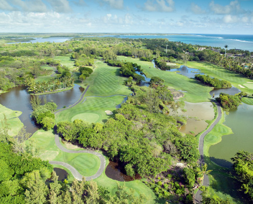 Constance Le Prince Maurice Golf Course Aerial