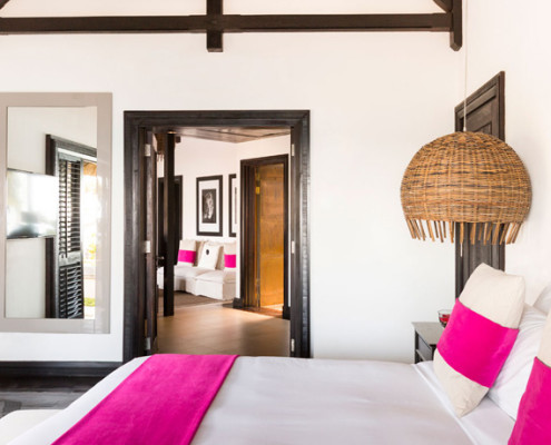 Lux Belle Mare Pink Bedroom
